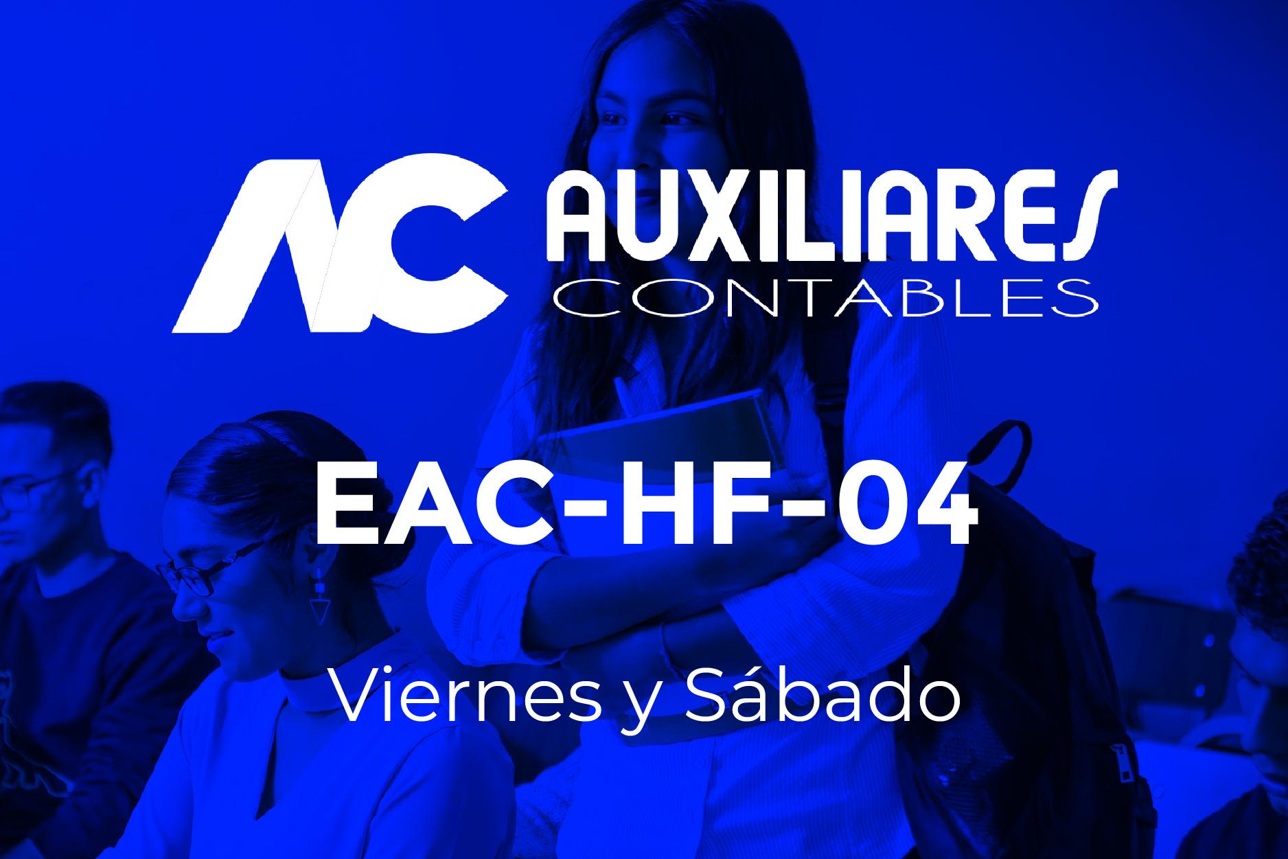 4 - AUXILIARES CONTABLES - VIERNES Y SÁBADO