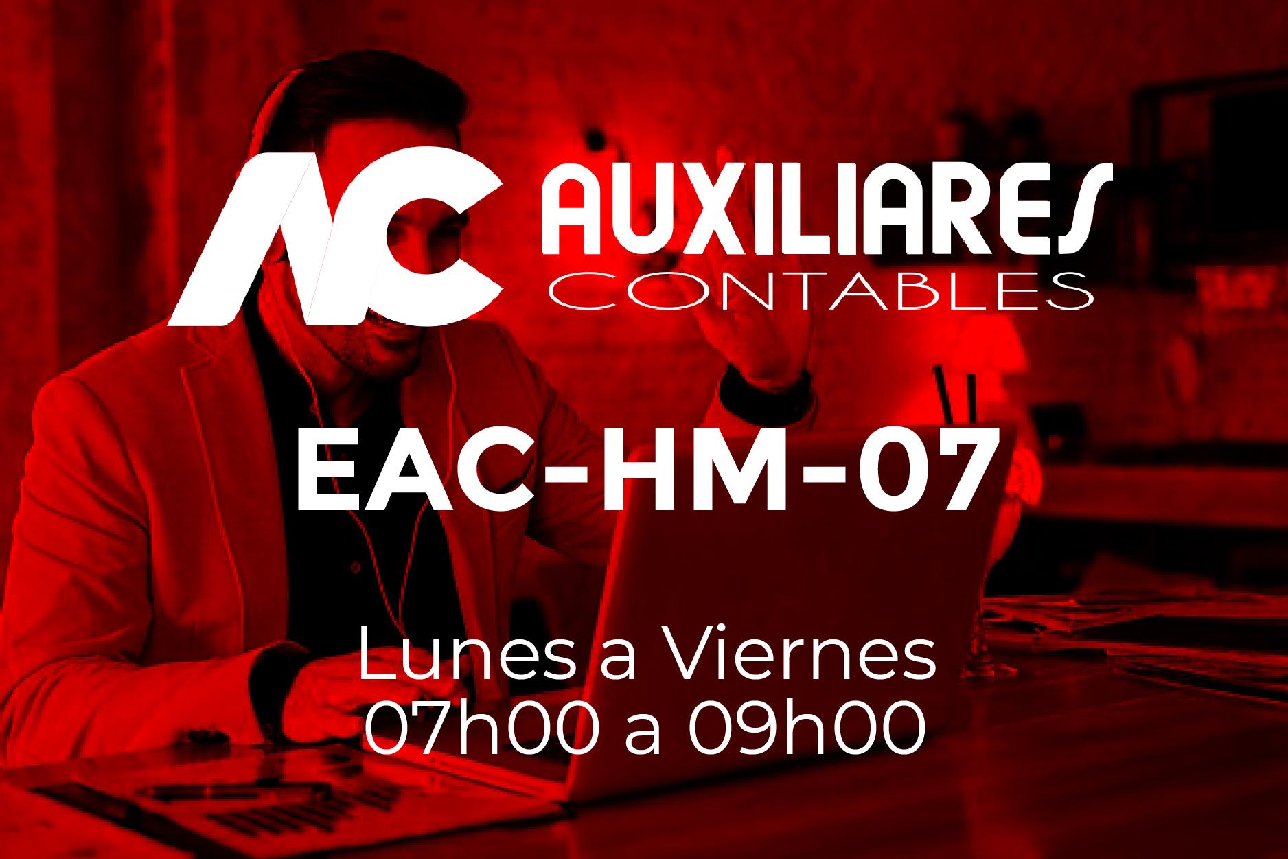 7 - AUXILIARES CONTABLES - LUNES A VIERNES - 07:00 A 09:00