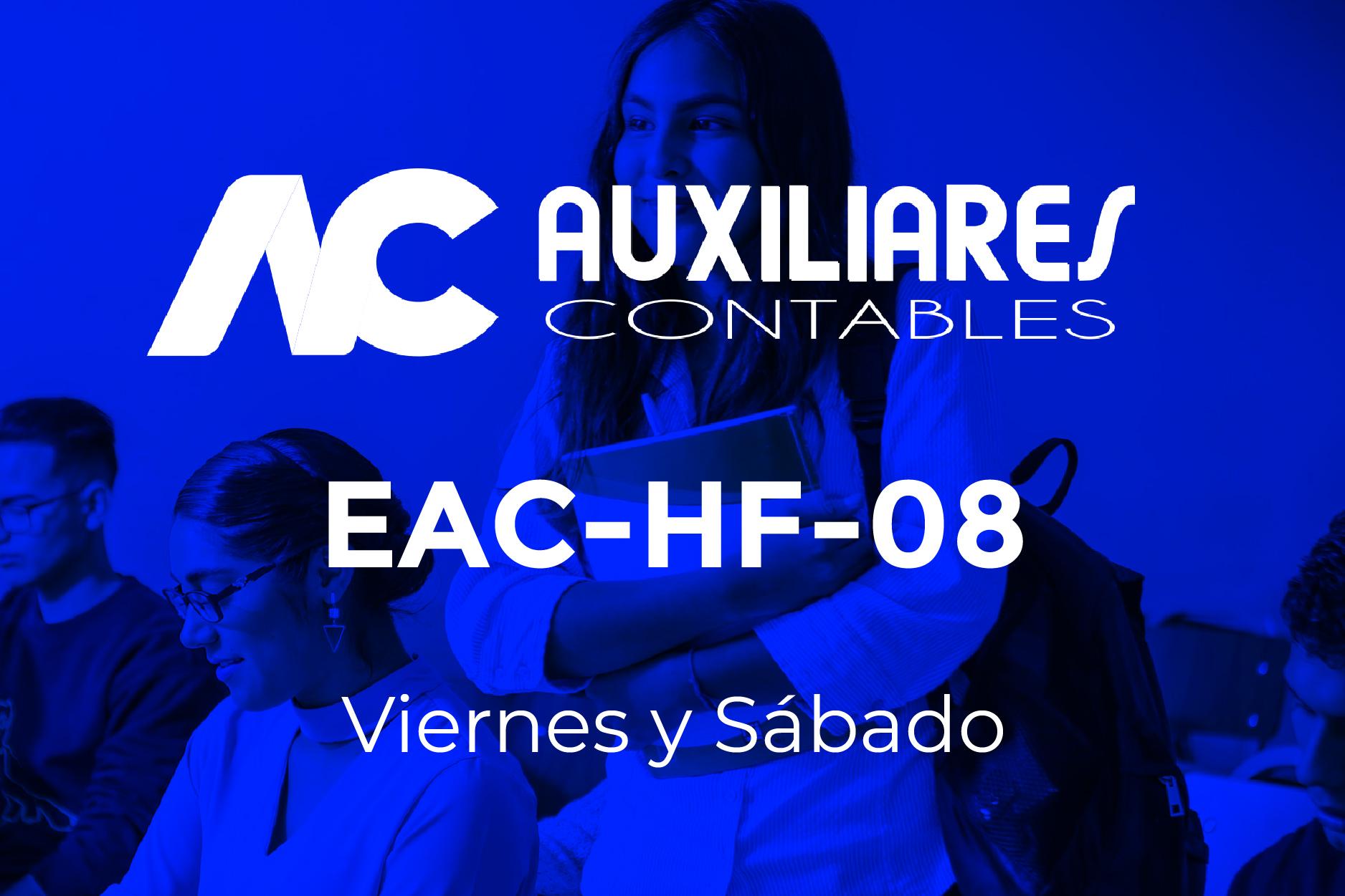 8 - AUXILIARES CONTABLES - VIERNES Y SÁBADO
