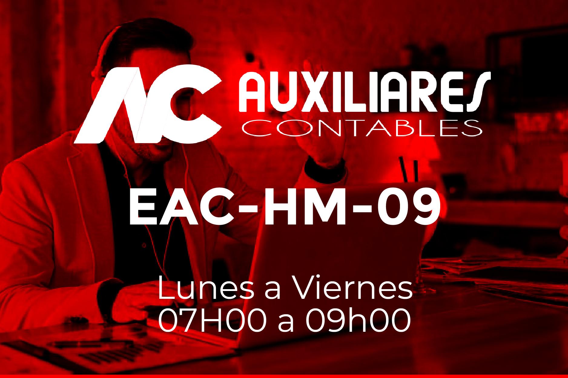 9 - AUXILIARES CONTABLES - LUNES A VIERNES - 07:00 A 09:00