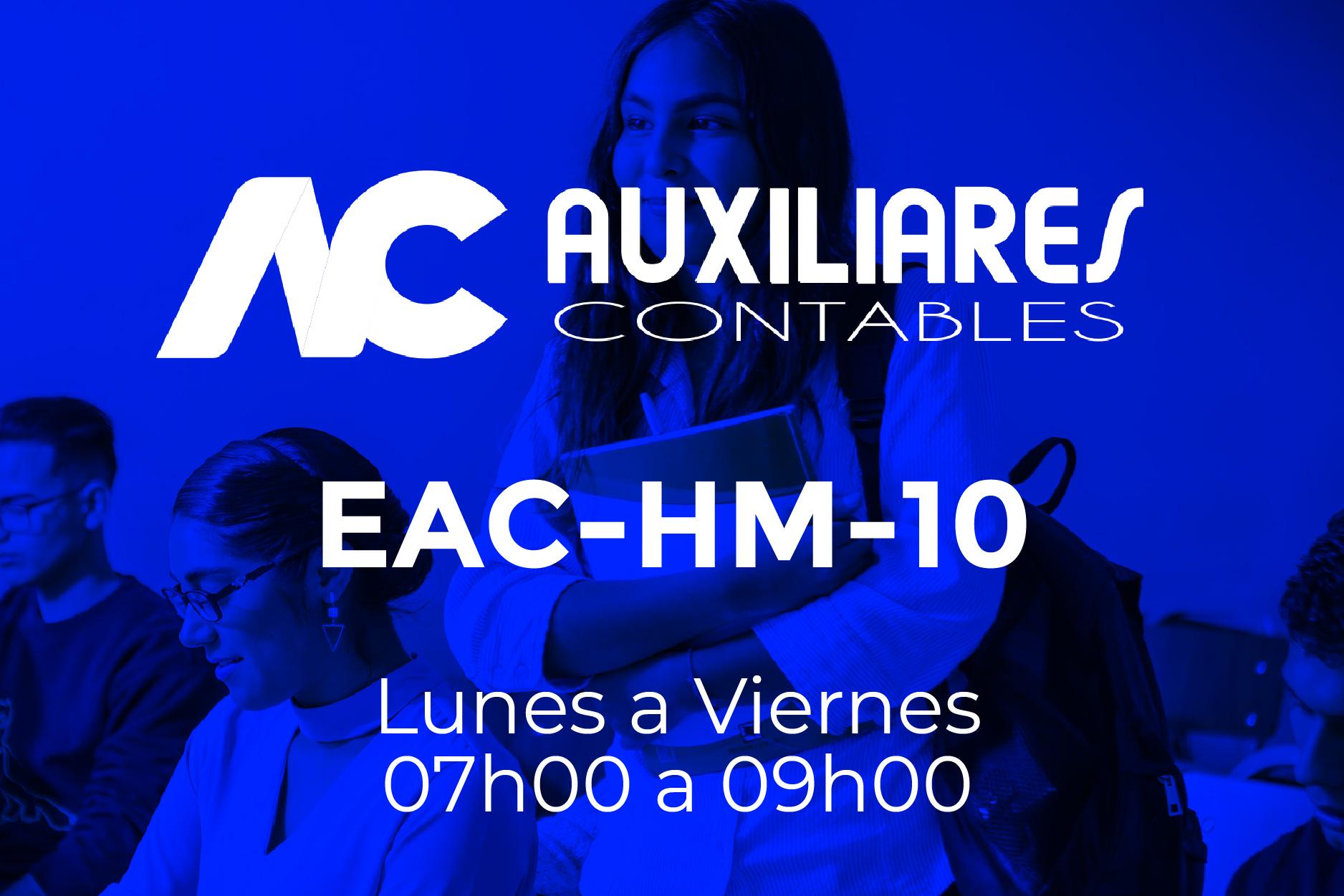 10 - AUXILIARES CONTABLES - LUNES A VIERNES - 07:00 A 09:00