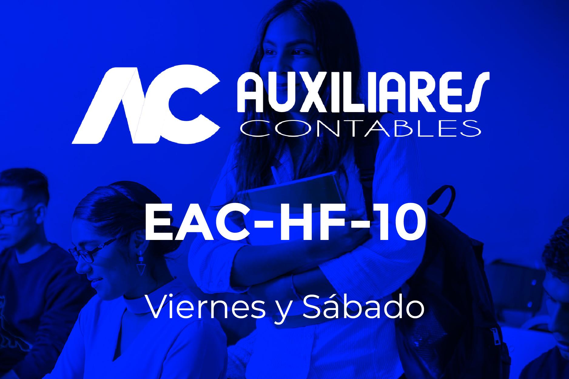 10 - AUXILIARES CONTABLES - VIERNES Y SÁBADO