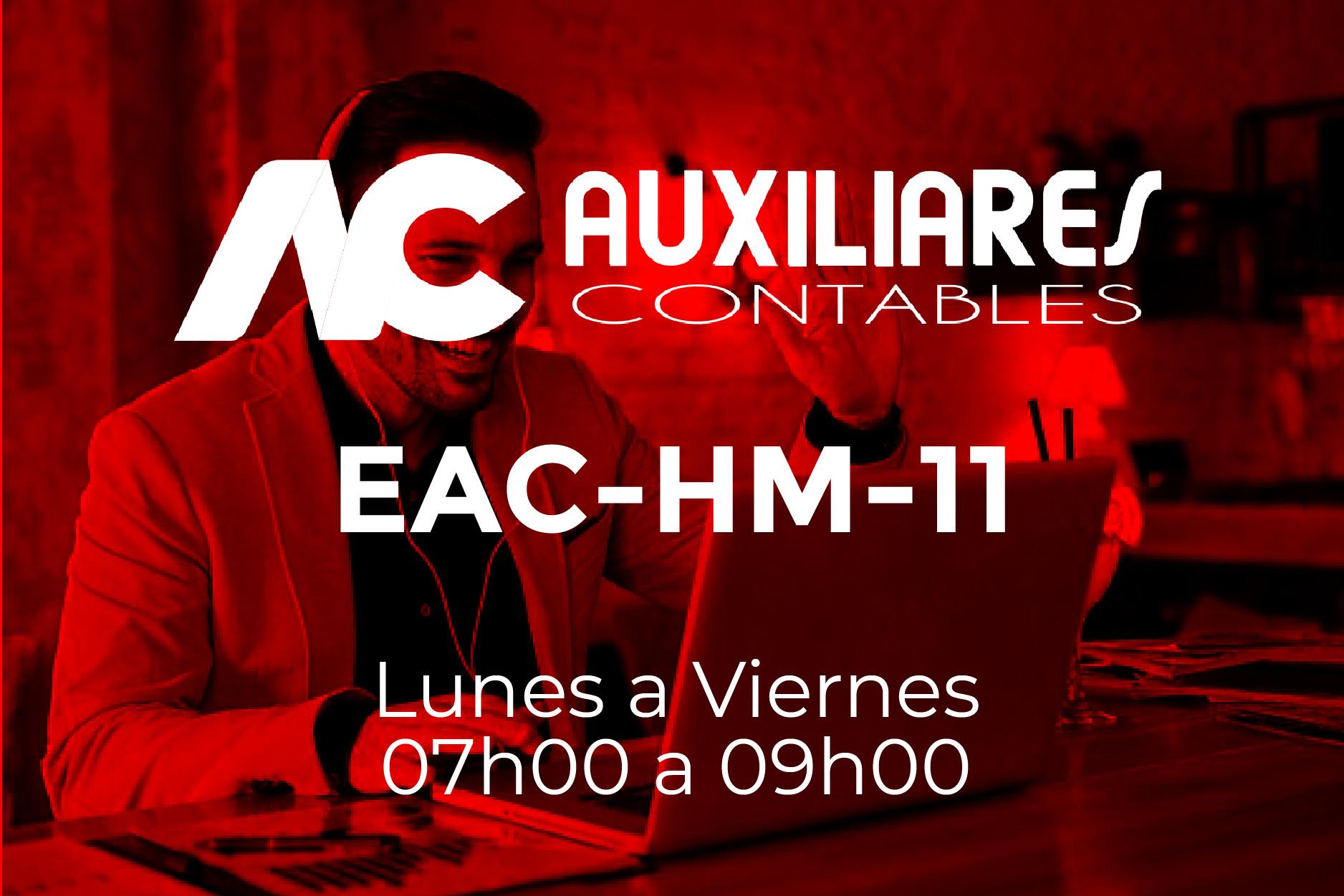 11 - AUXILIARES CONTABLES - LUNES A VIERNES - 07:00 A 09:00