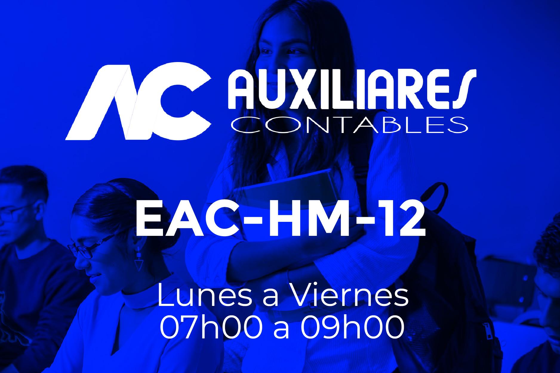 12 - AUXILIARES CONTABLES - LUNES A VIERNES - 07:00 A 09:00