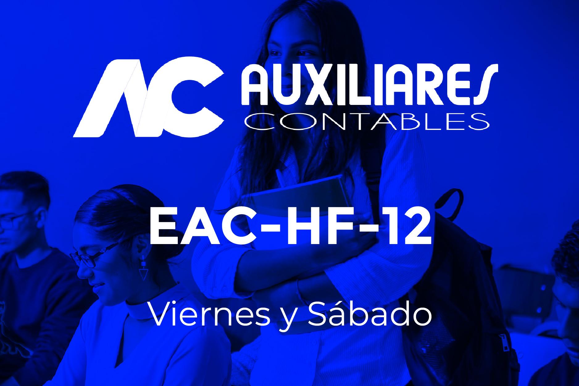12 - AUXILIARES CONTABLES - VIERNES Y SÁBADO