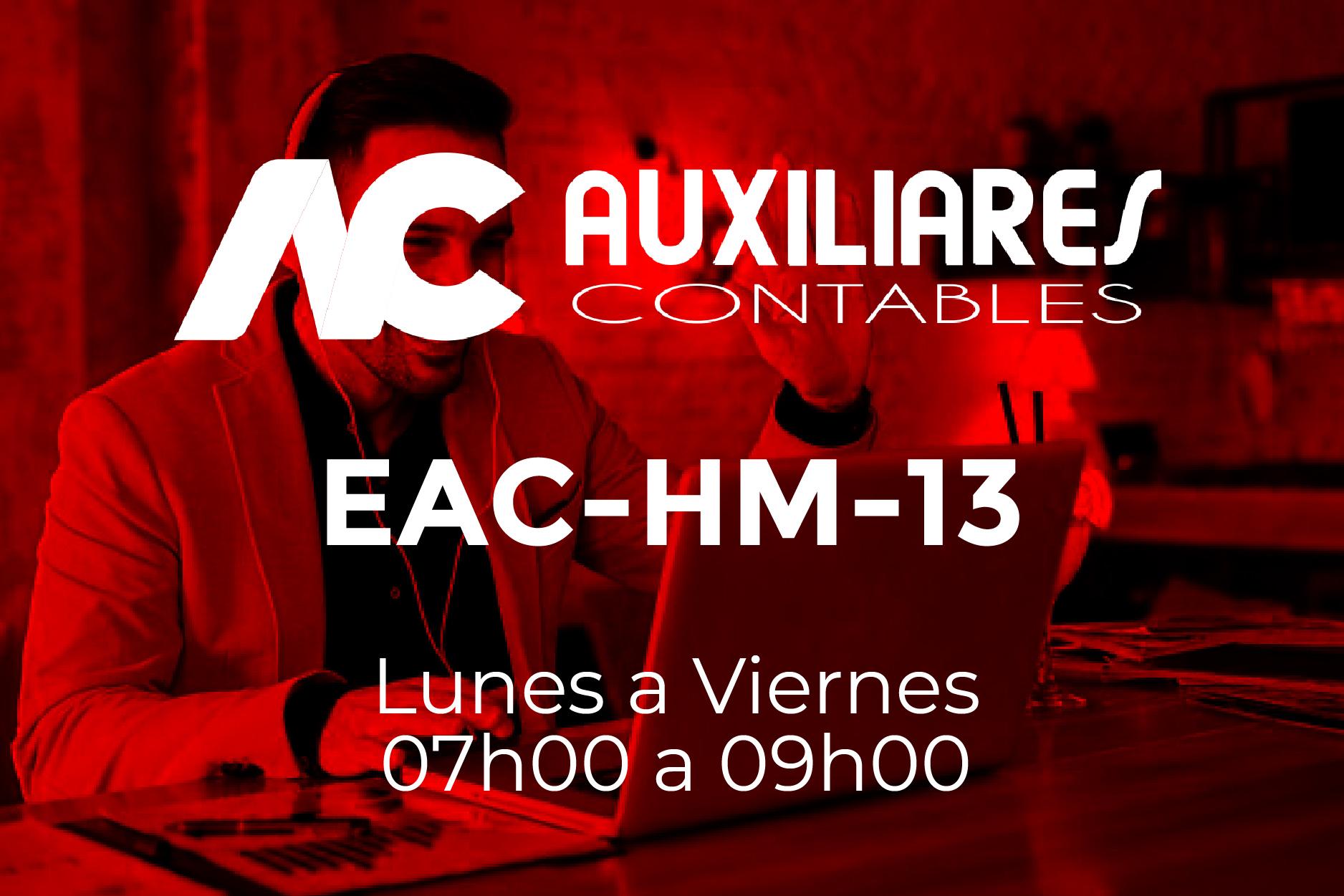 13 - AUXILIARES CONTABLES - LUNES A VIERNES - 07:00 A 09:00