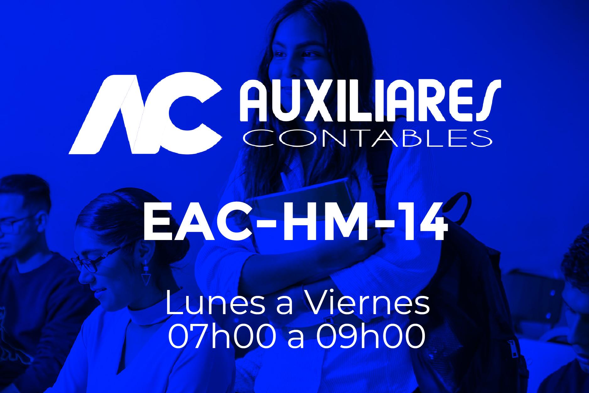 14 - AUXILIARES CONTABLES - LUNES A VIERNES - 07:00 A 09:00