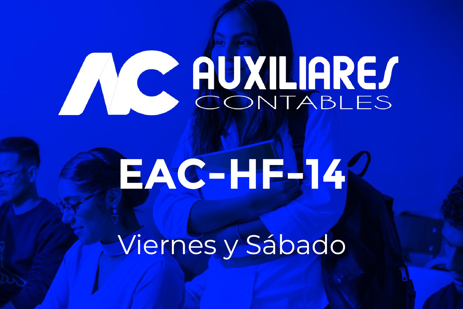 14 - AUXILIARES CONTABLES - VIERNES Y SÁBADO