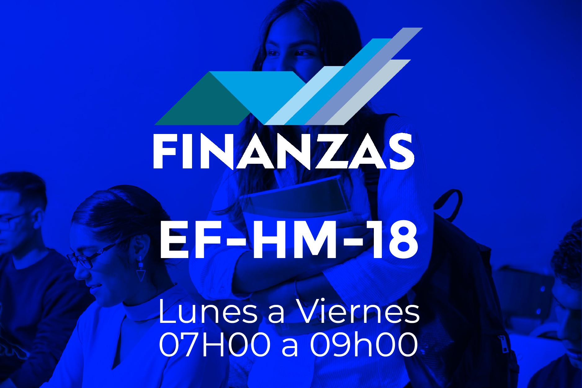 18 - FINANZAS - LUNES A VIERNES - 07:00 A 09:00