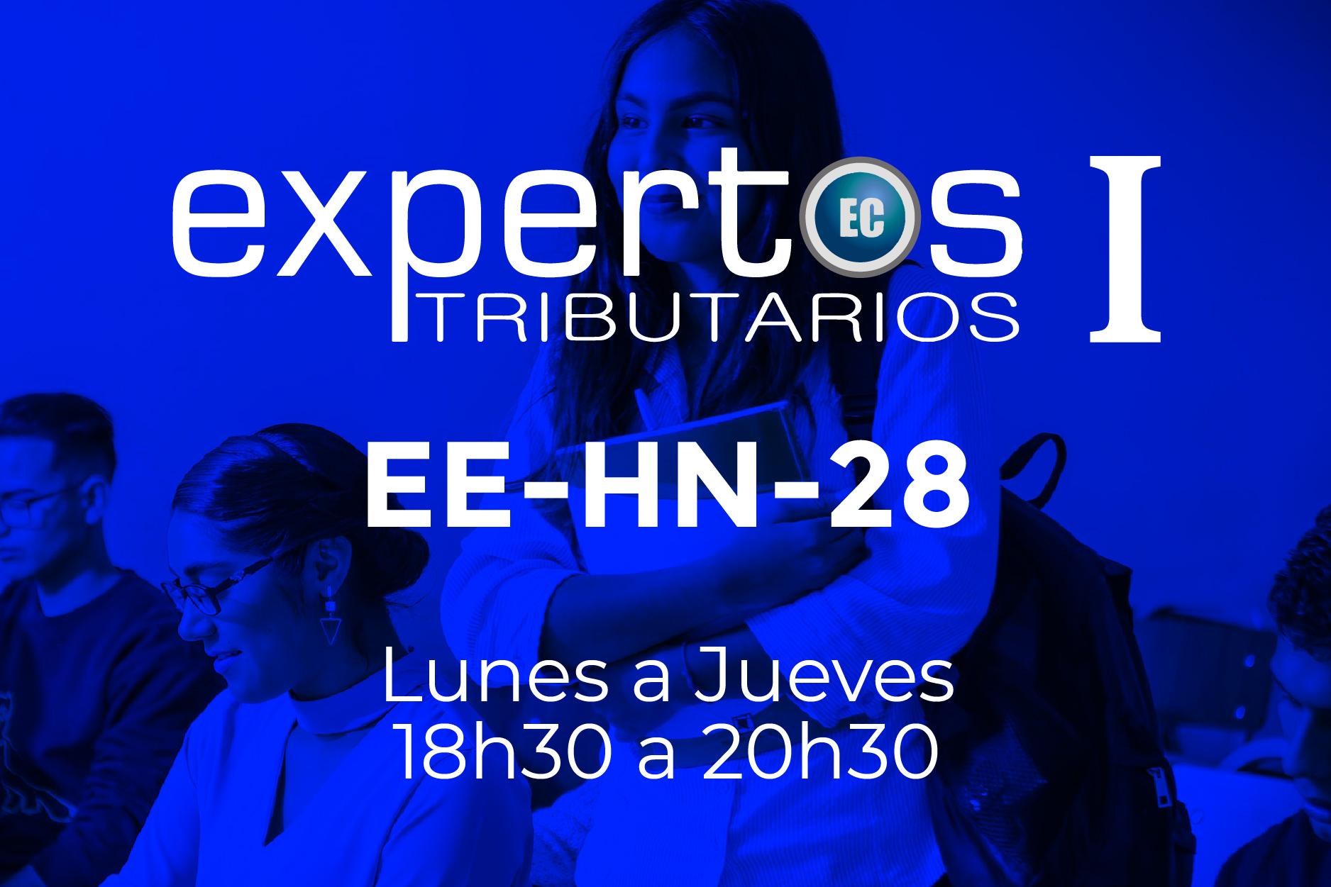 28 - EXPERTOS TRIBUTARIOS - LUNES A JUEVES - 18:00 A 20:30
