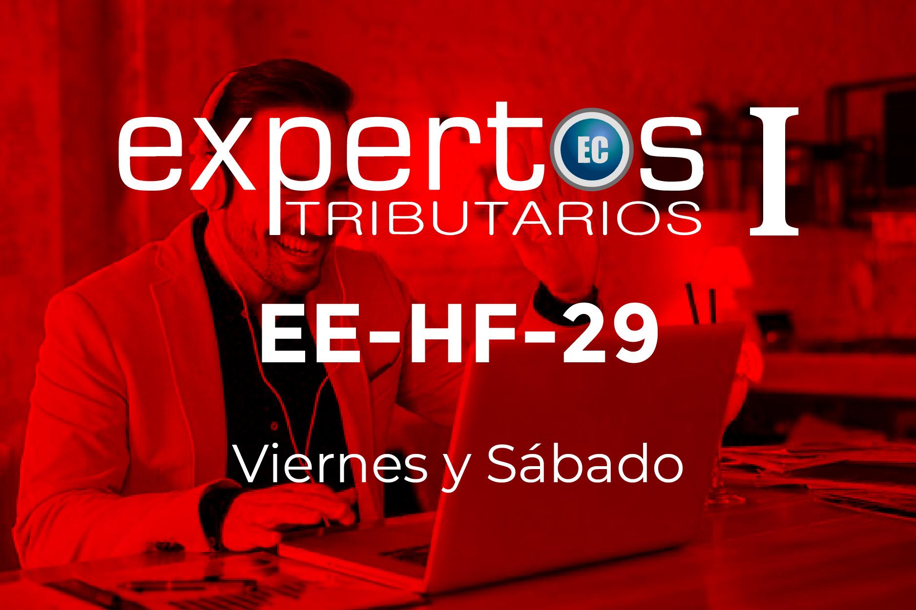 29 - EXPERTOS TRIBUTARIOS - VIERNES Y SÁBADO
