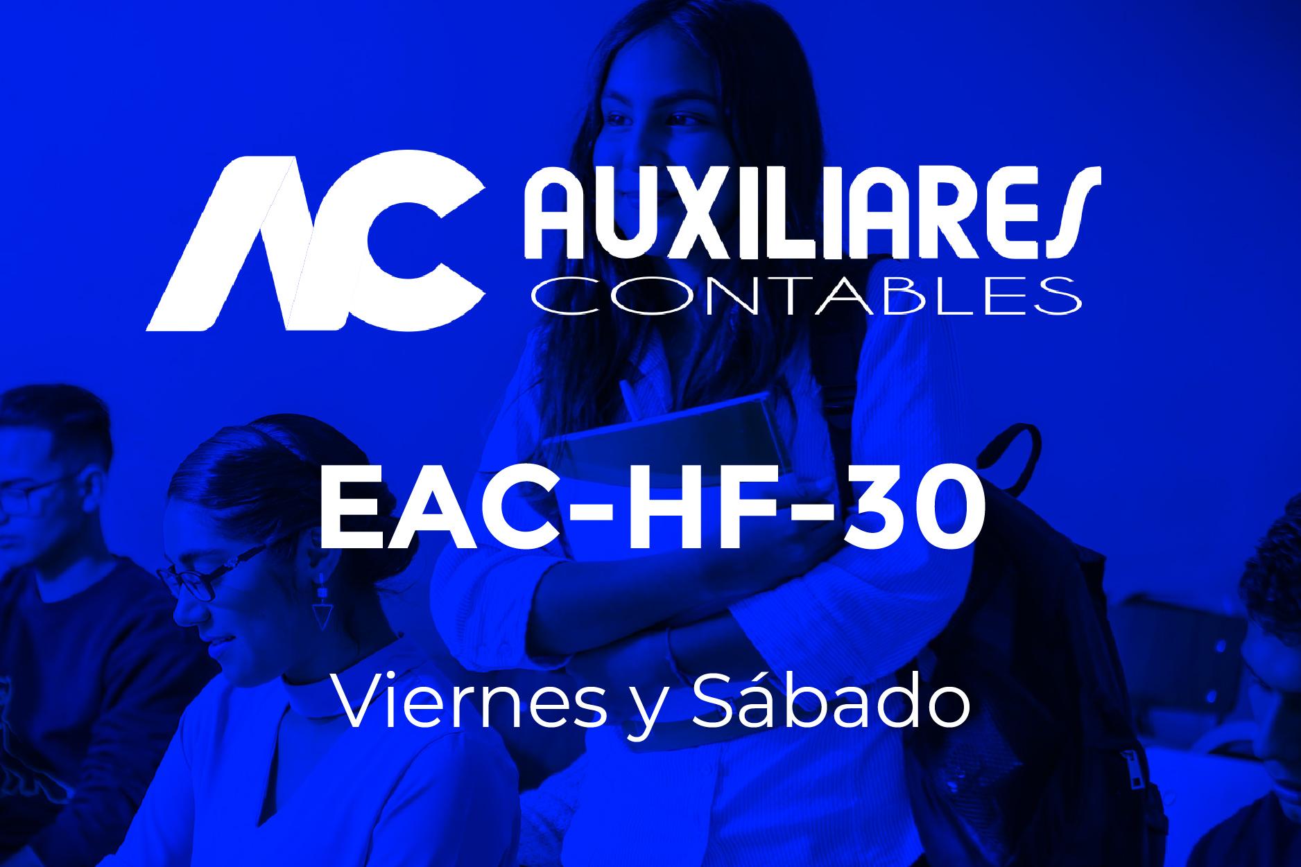 30 - AUXILIARES CONTABLES - VIERNES Y SÁBADO