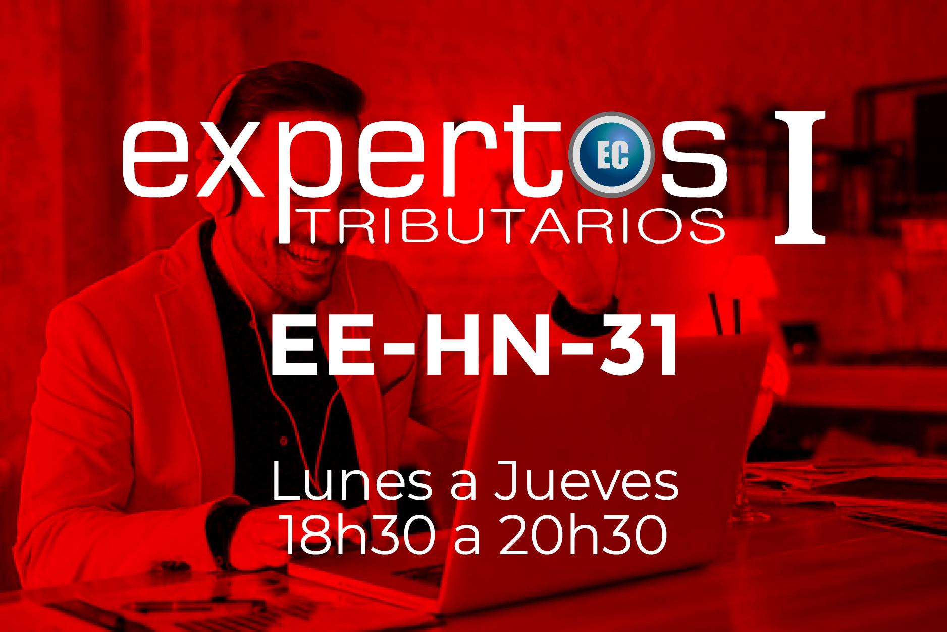 31 - EXPERTOS TRIBUTARIOS - LUNES A JUEVES - 18:00 A 20:30
