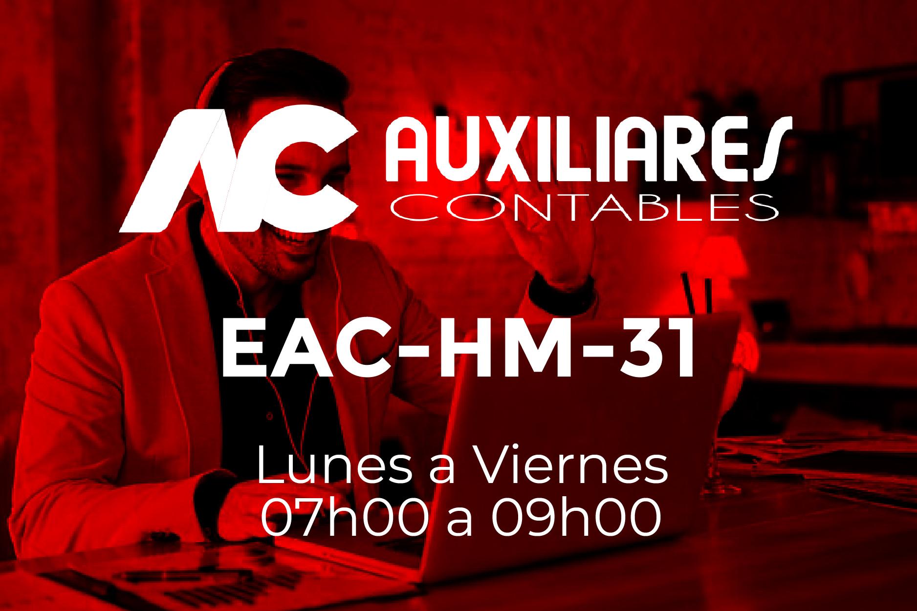 31 - AUXILIARES CONTABLES - LUNES A VIERNES - 07:00 A 09:00