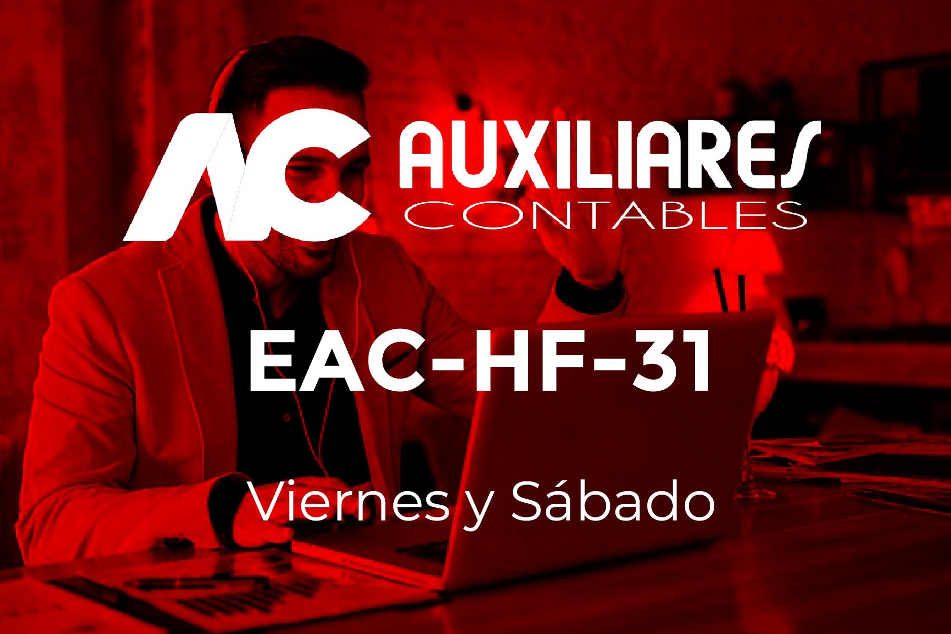 31 - AUXILIARES CONTABLES - VIERNES Y SÁBADO