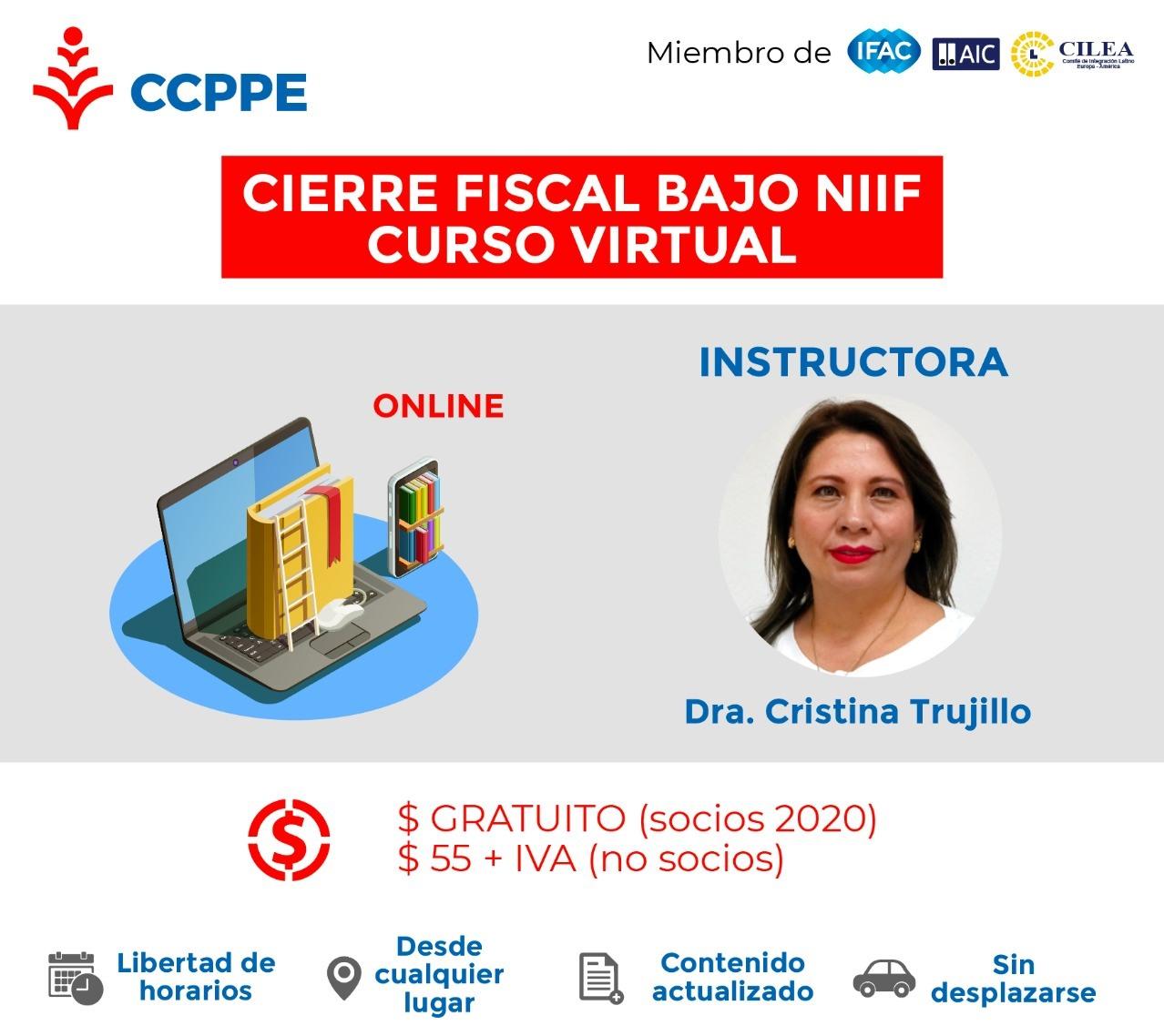 CURSO: CIERRE FISCAL BAJO NIIF - VIRTUAL MARZO 2020