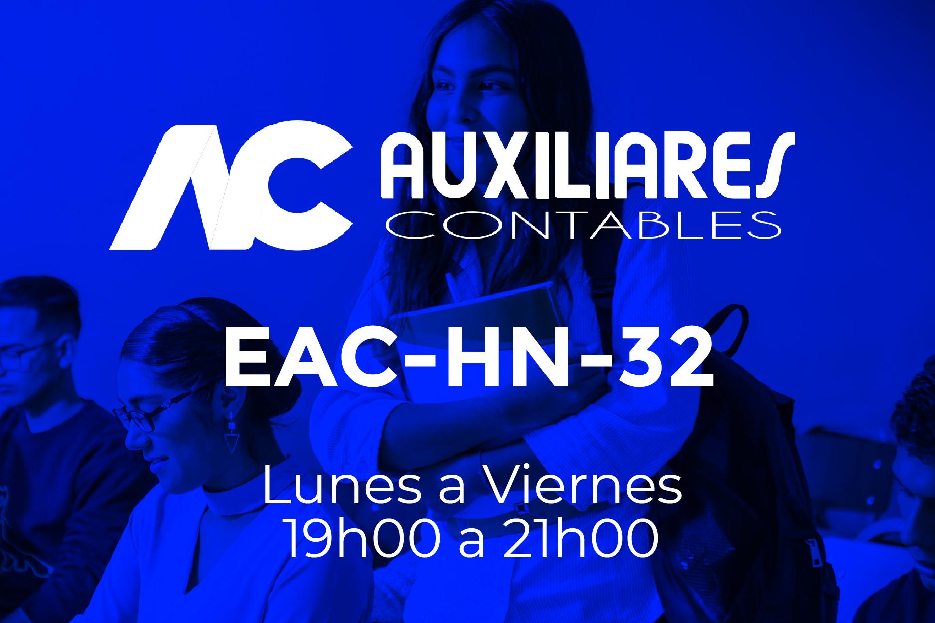 32 - AUXILIARES CONTABLES - LUNES A VIERNES - 19:00 A 21:00