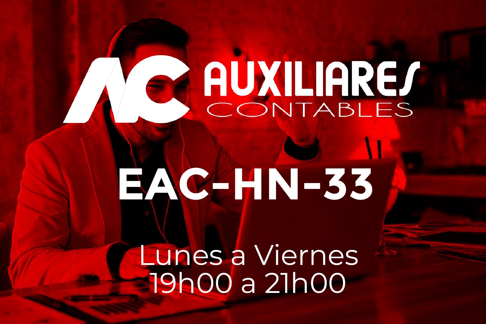 33 - AUXILIARES CONTABLES - LUNES A VIERNES - 19:00 A 21:00