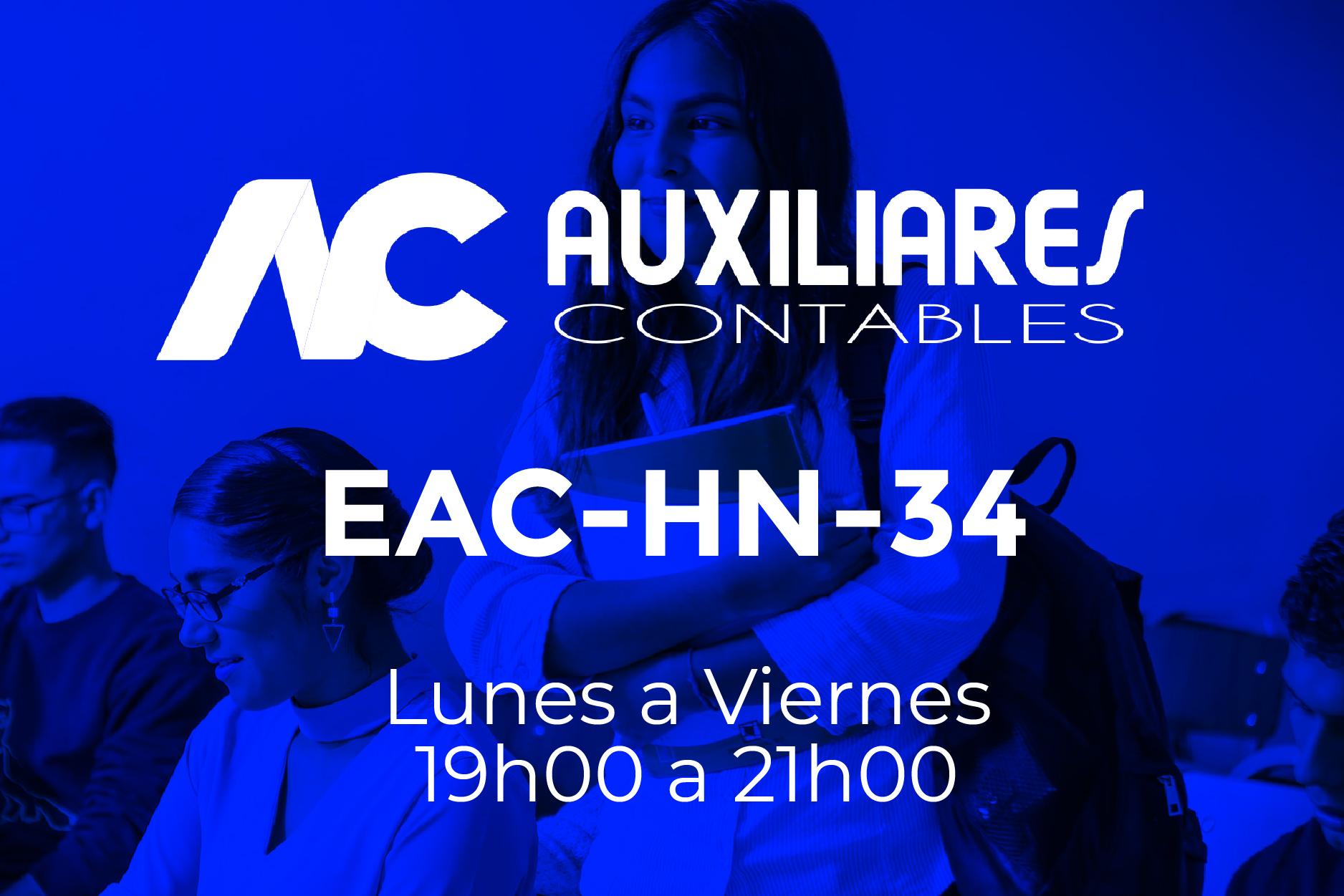 34 - AUXILIARES CONTABLES - LUNES A VIERNES - 19:00 A 21:00