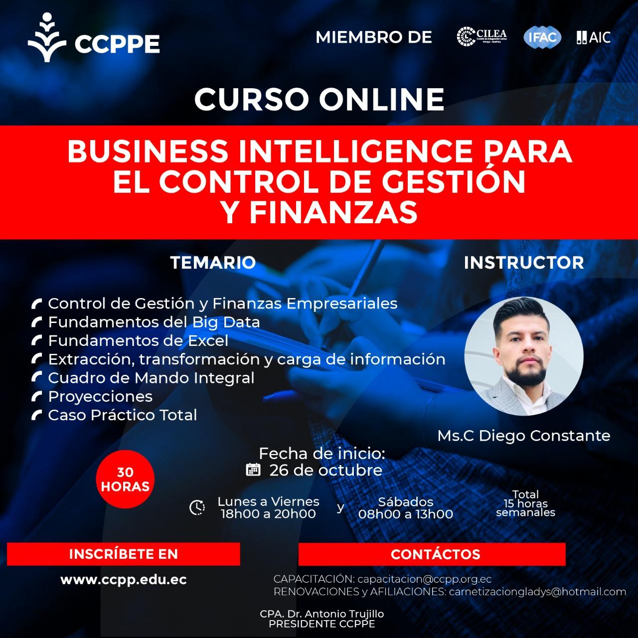 BUSINESS PARA CONTROL DE GESTIÓN Y FINANZAS EMPRESARIALES - 26 OCTUBRE AL 13 NOVIEMBRE 2020