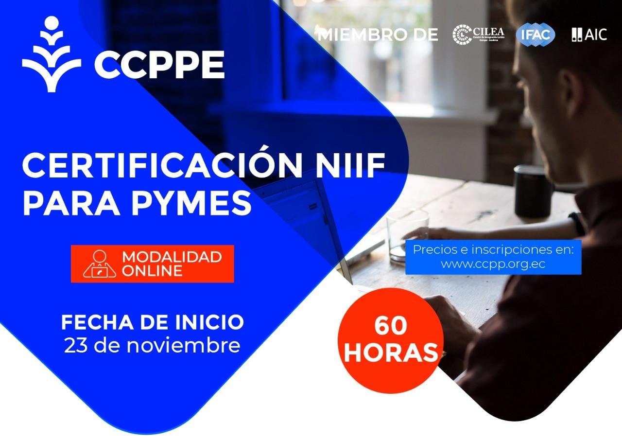 CERTIFICACIÓN NIIF PARA PYMES - 23 NOVIEMBRE 2020