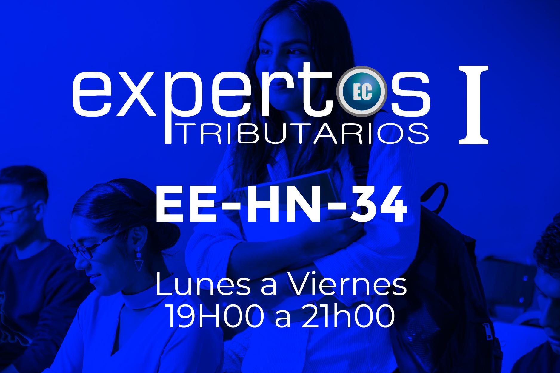 34 - EXPERTOS TRIBUTARIOS - LUNES A VIERNES - 19:00 A 21:00