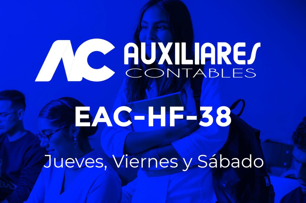 38 - AUXILIARES CONTABLES - JUEVES, VIERNES y SÁBADO