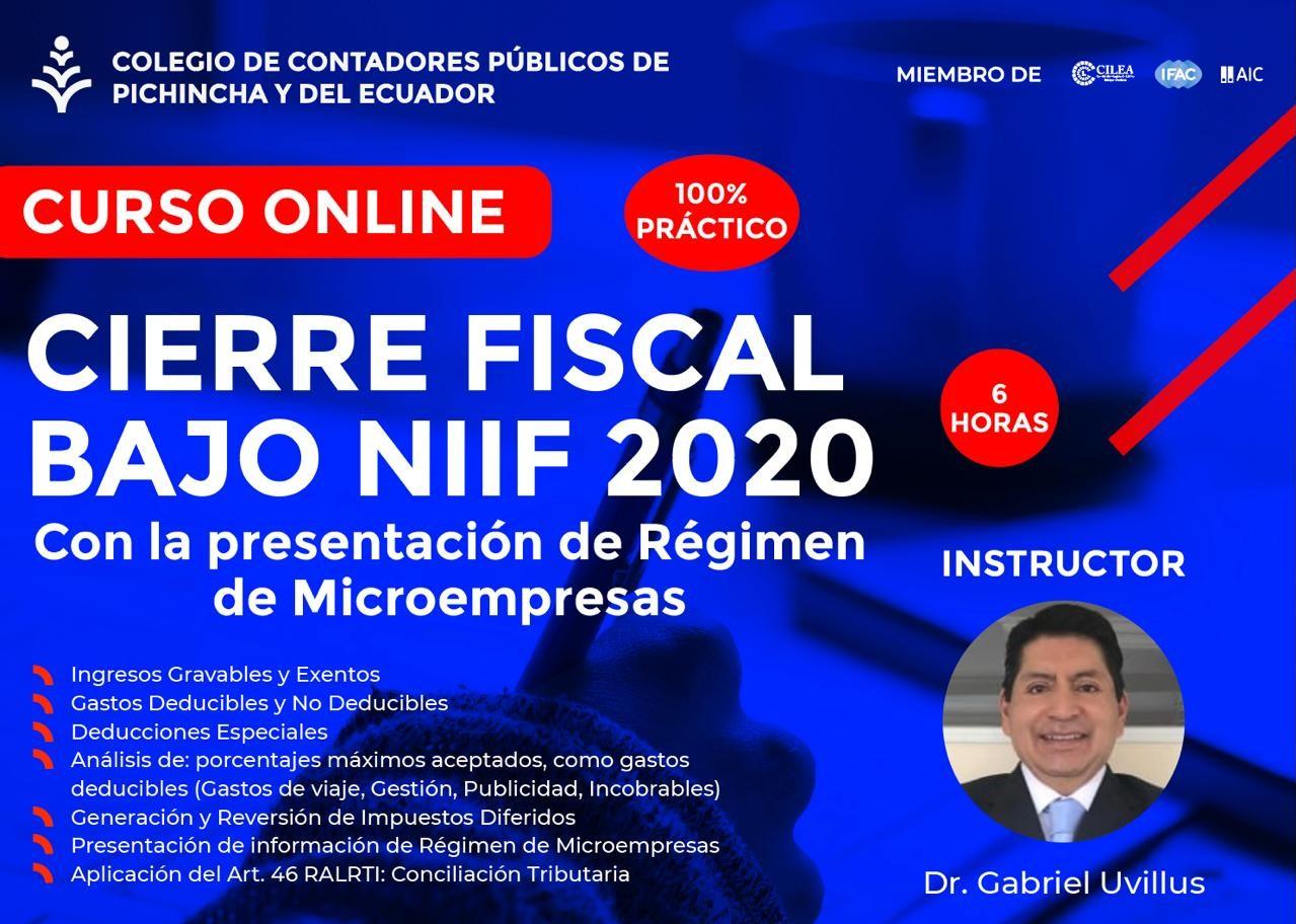 CIERRE FISCAL BAJO NIIF - 01 AL 03 FEBRERO 2021