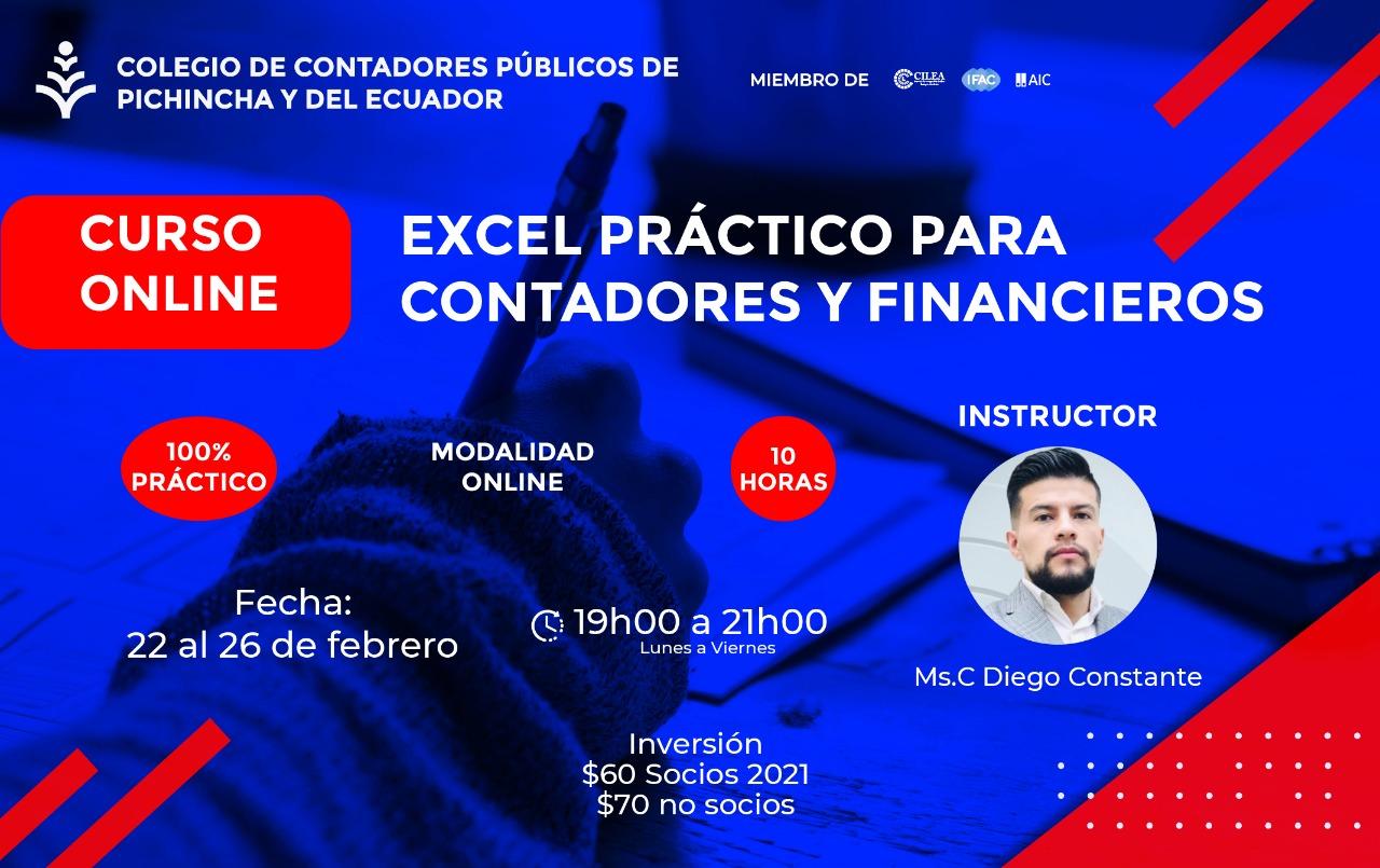 EXCEL PARA CONTADORES Y FINANCIEROS - 22 AL 26 FEBRERO 2021