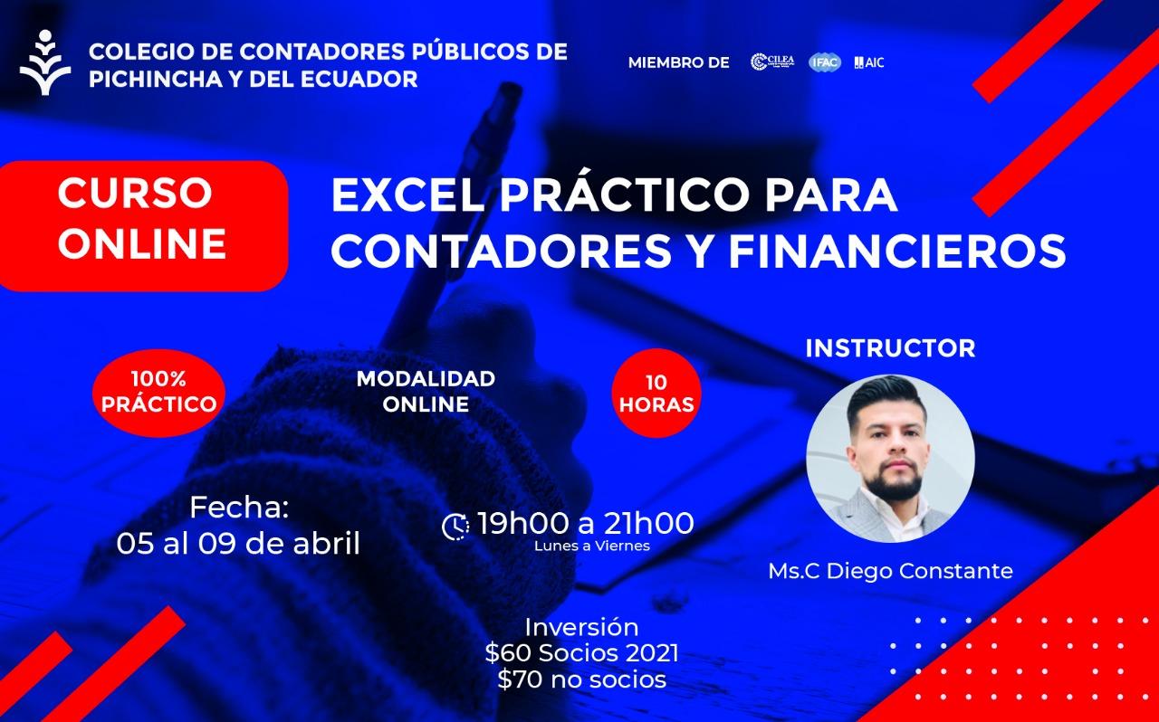 EXCEL PARA CONTADORES Y FINANCIEROS - 05 AL 09 ABRIL 2021