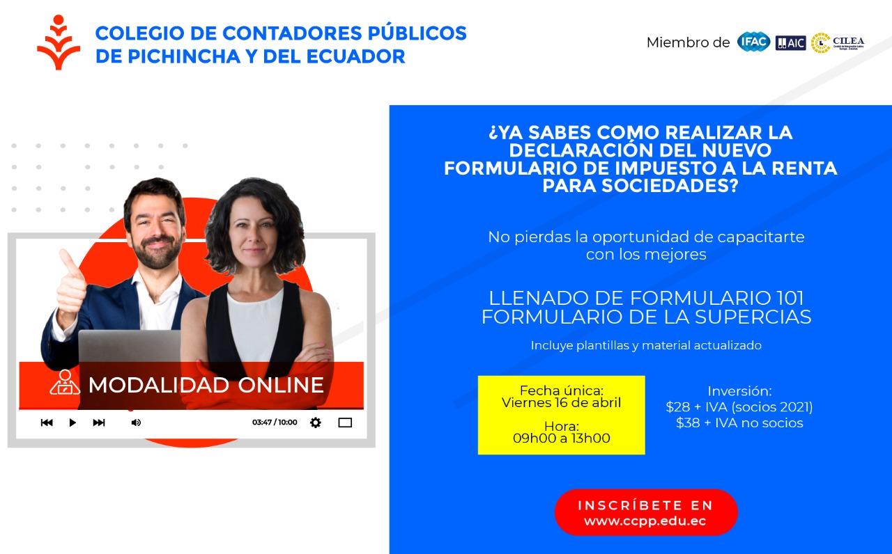 LLENADO NUEVO FORMULARIO 101 - 16 ABRIL 2021