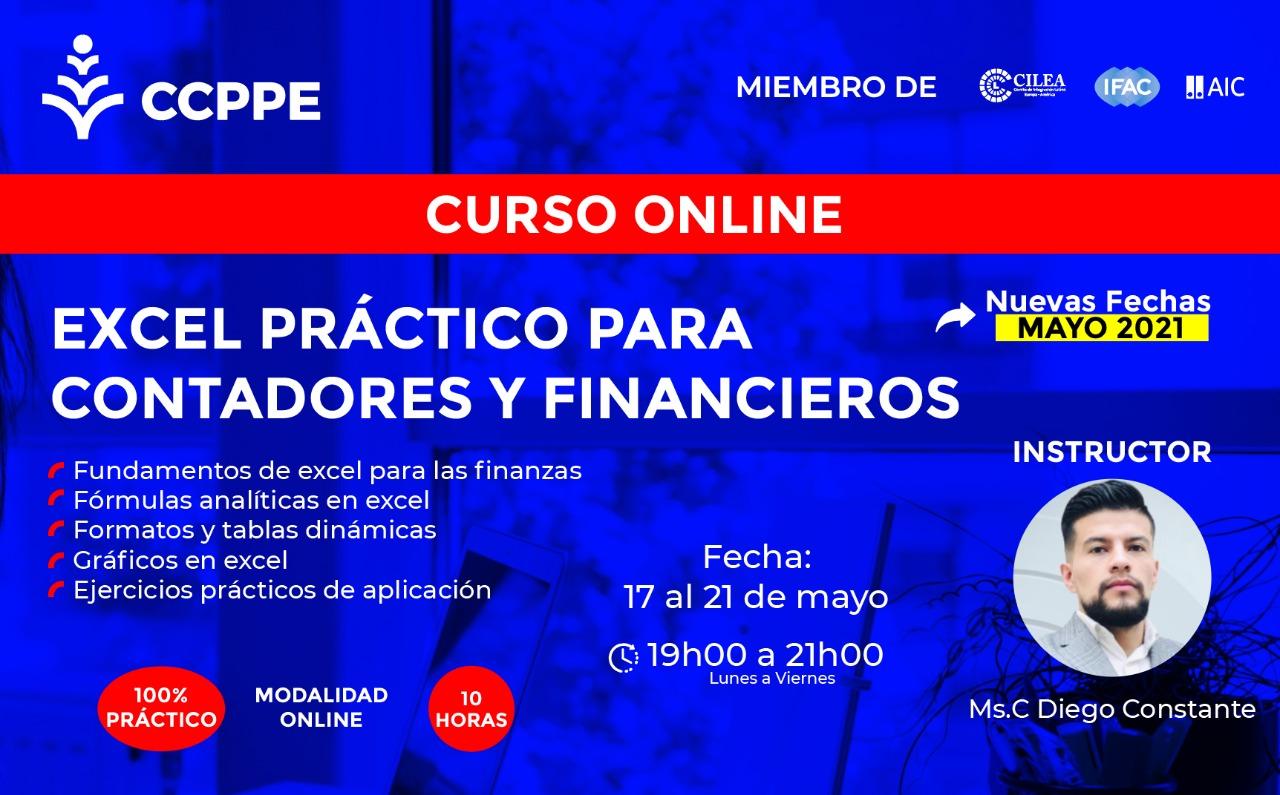 EXCEL PARA CONTADORES Y FINANCIEROS - 17 AL 21 MAYO 2021