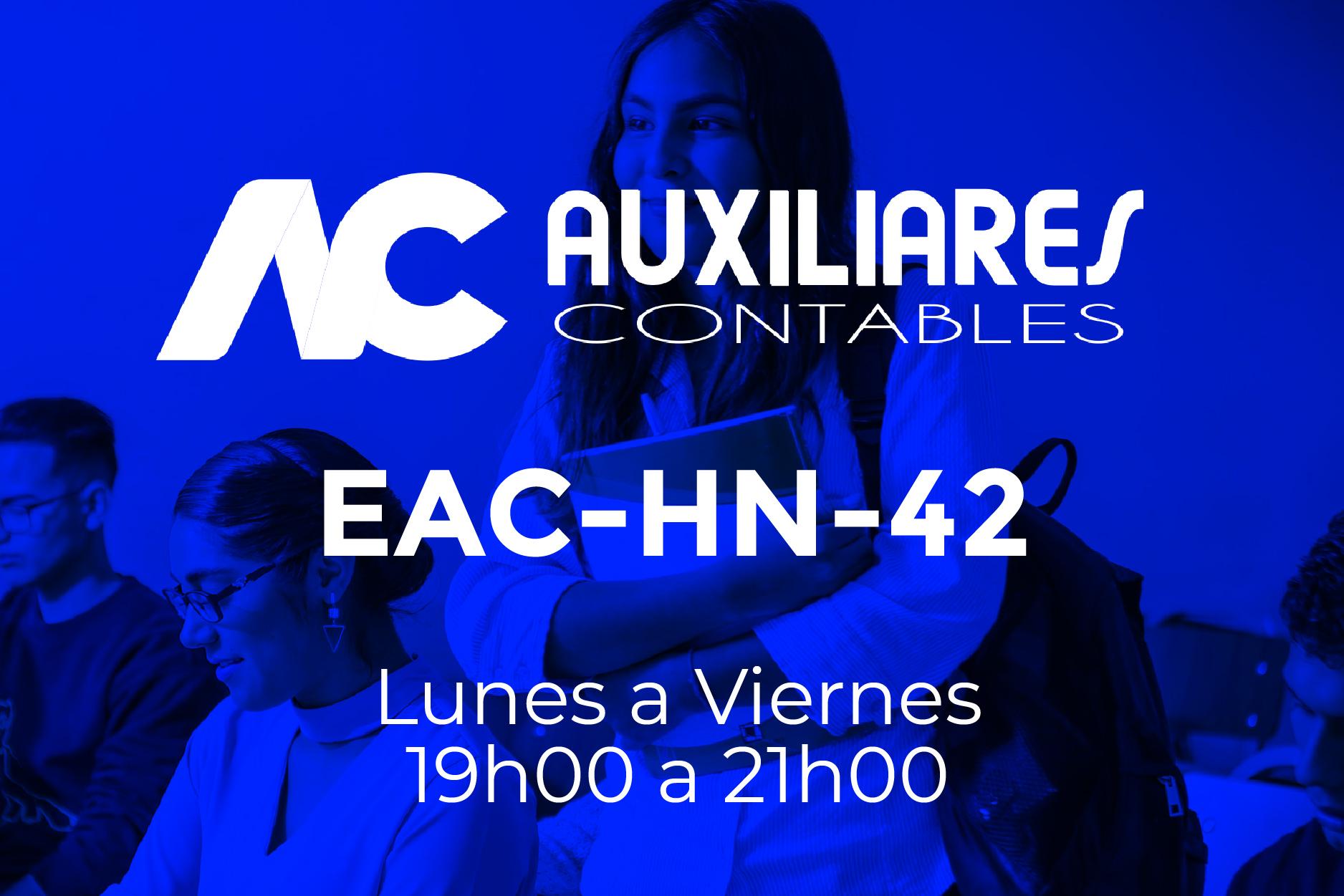 42 - AUXILIARES CONTABLES - LUNES A VIERNES - 19:00 A 21:00